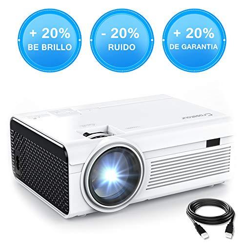 Crosstour Mini Proyector Portátil HD LED 800 * 480p (1080p compatible) Vídeo Proyector Lampara con 55.000 Horas de Uso