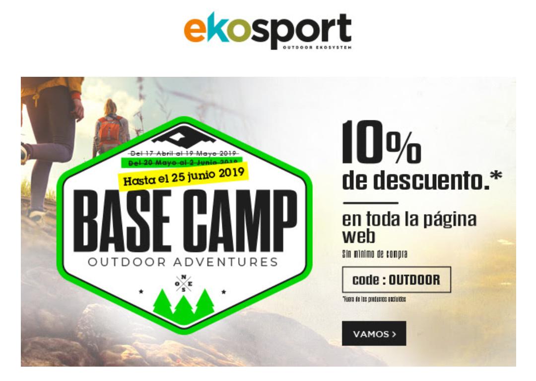 10% de descuento en la web Ekosport