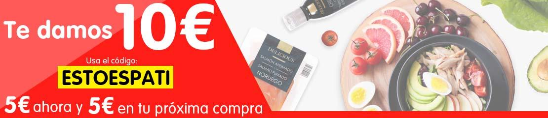5€ + 5€ descuento en DIA online (Compras superiores a 65€)