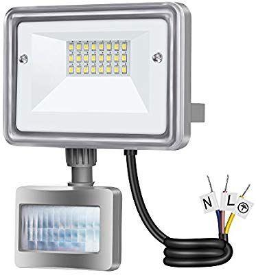 Foco Proyector LED 10W IP65 con Sensor de Movimiento