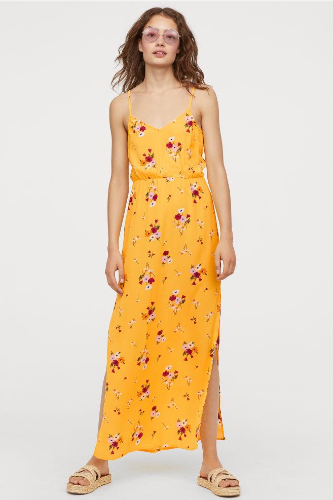 Vestido largo de crepé H&M