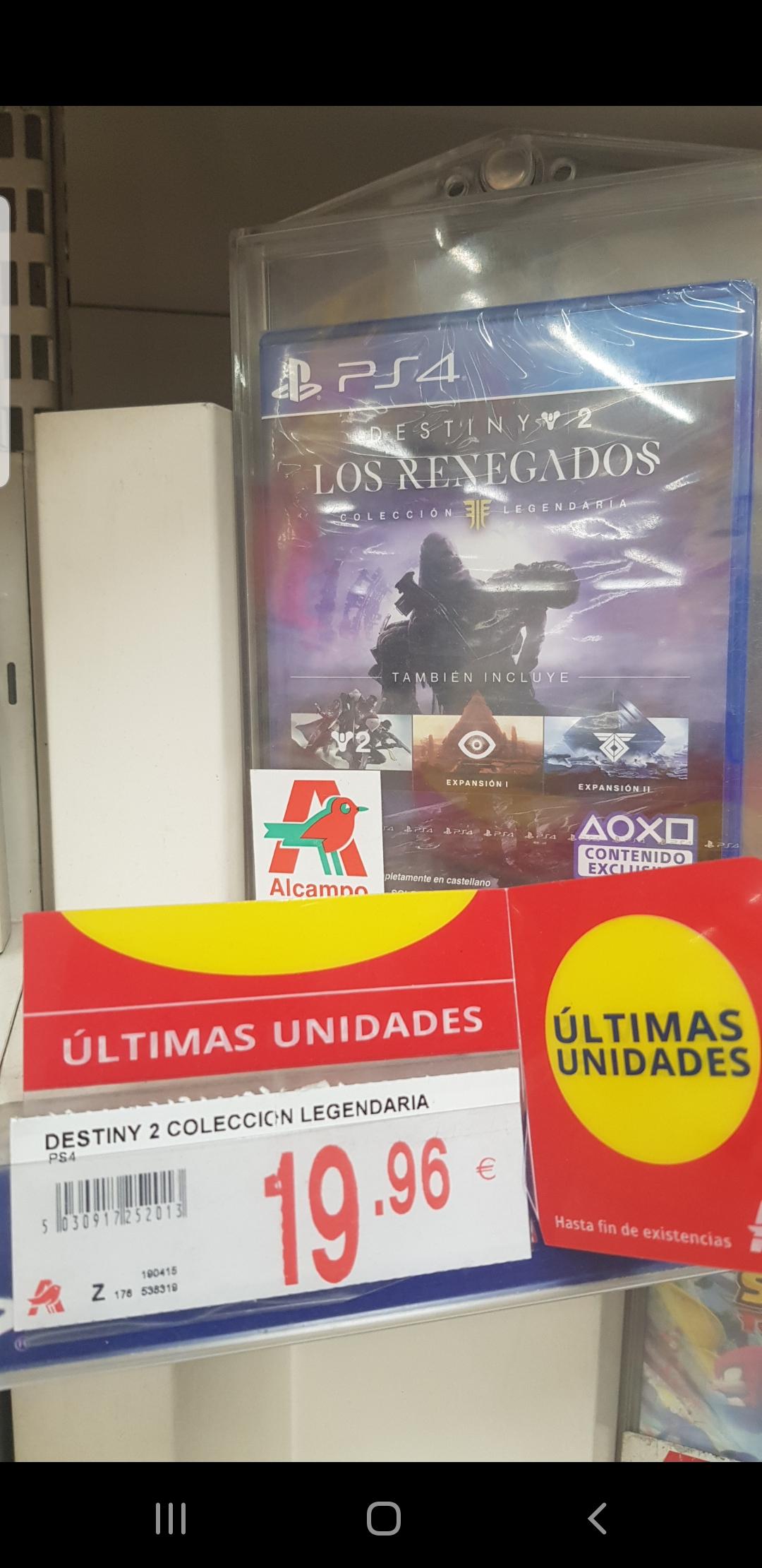 JUEGO PS4 Destiny 2: Los Renegados Colección Legendaria