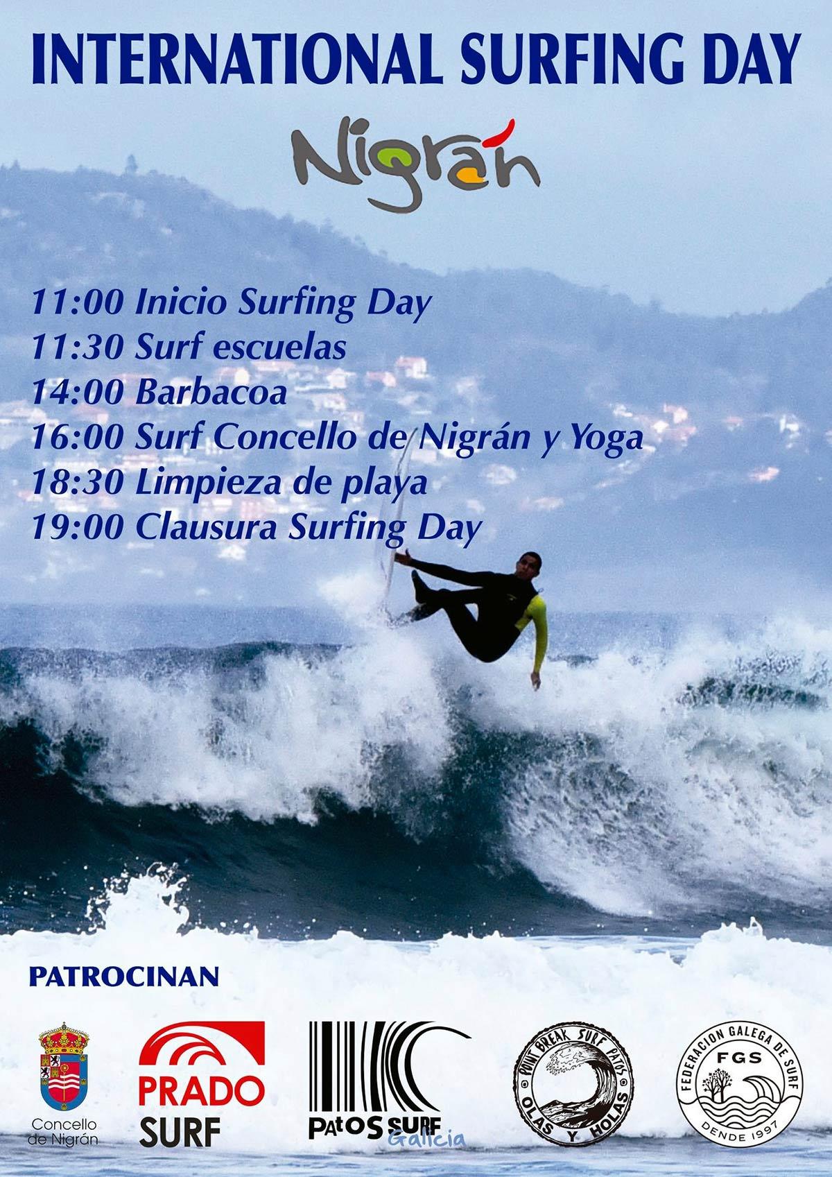 Cursos de Surf GRATIS y uso GRATUITO de material Nigrán Galicia