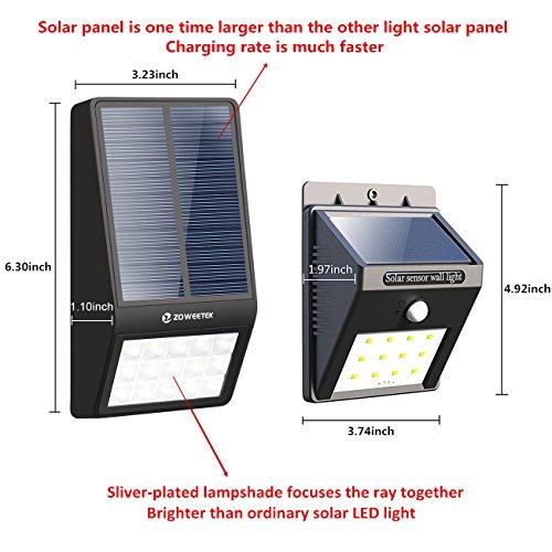 Luz de solar 15 LED Impermeable 2000mAh con Sensor