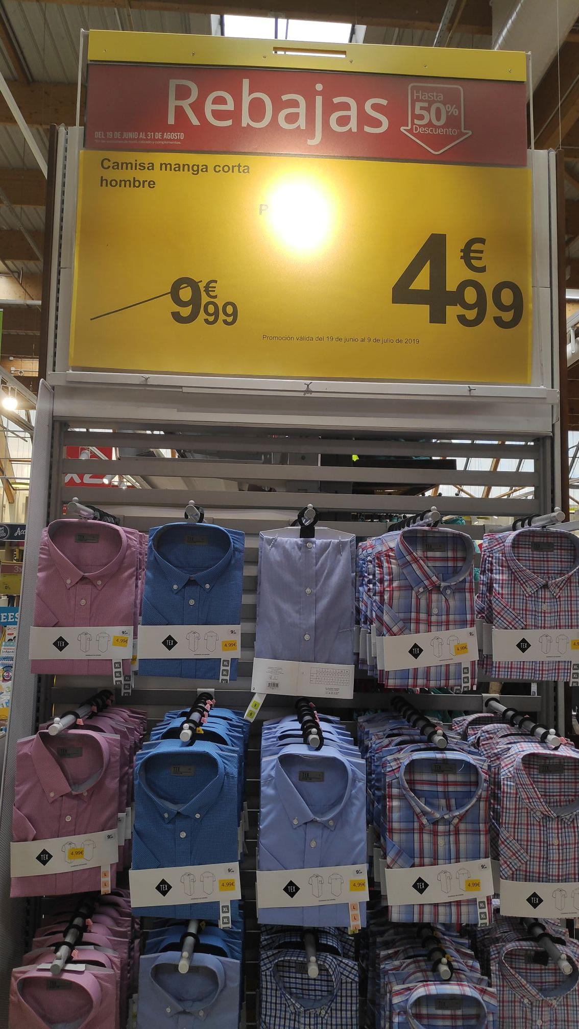 Camisas Carrefour hombre 50%