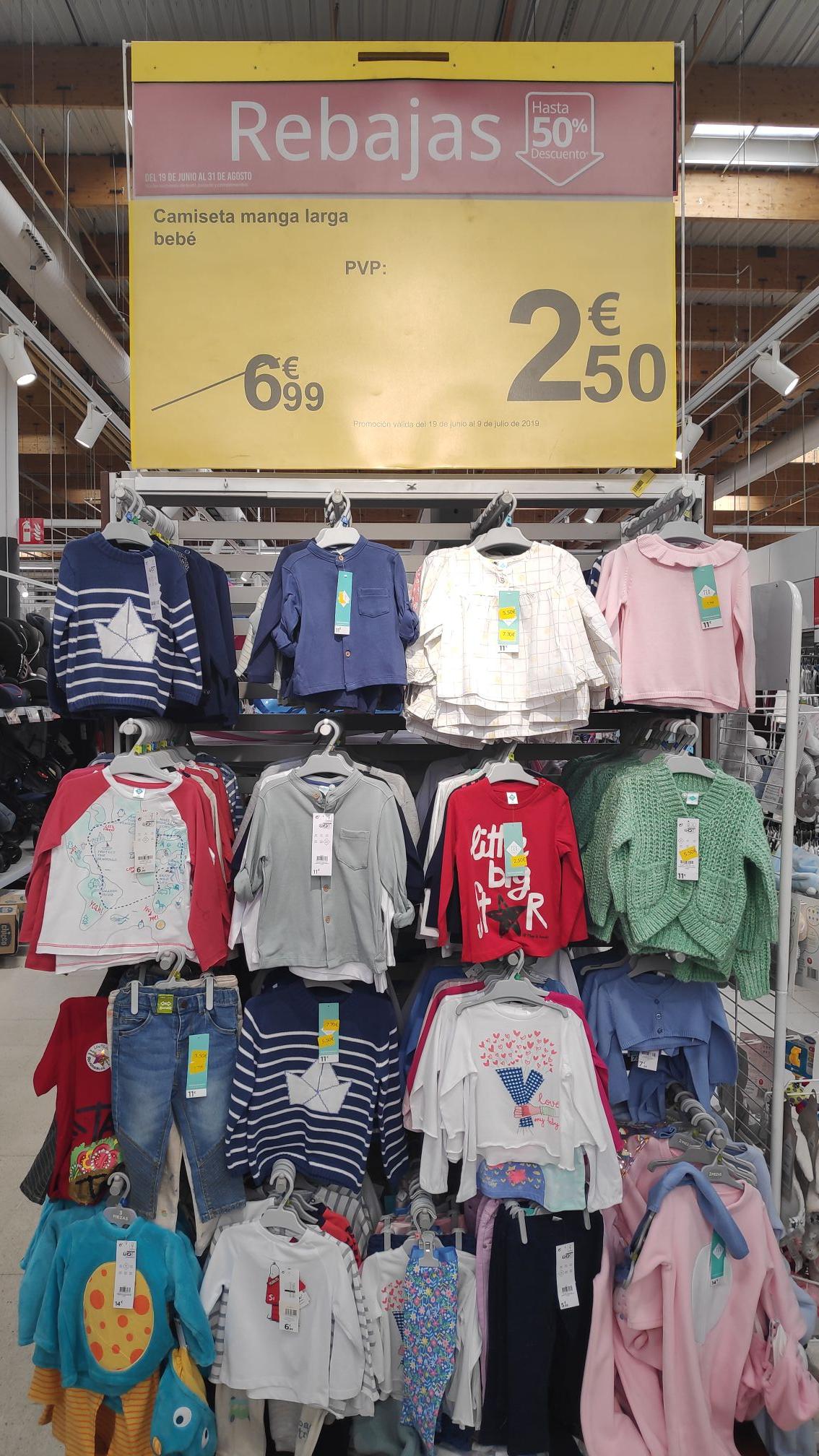 Camisetas bebé manga larga