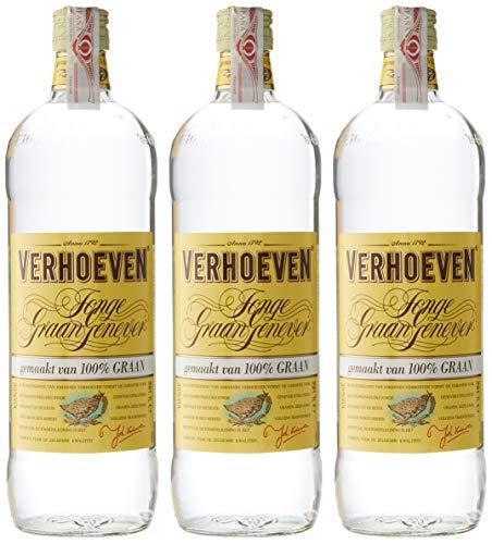 Verhoeven Jonge GraanJenever Gin - 3 de 1.000 ml - Total: 3 L.