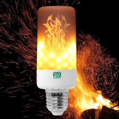 Bombilla LED E27 efecto fuego.
