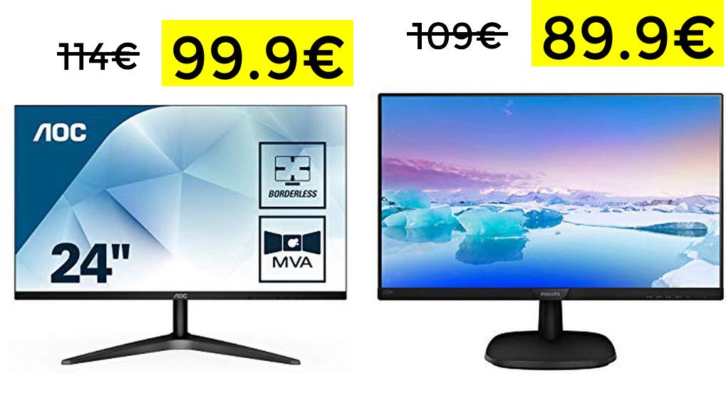 "Monitor AOC 24"" FHD Freesync solo 99€"