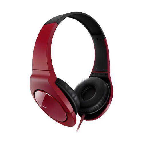 Pioneer SE-MJ721-Auriculares de diadema-Rojo