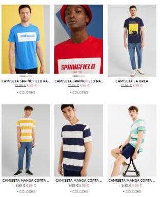 Camisetas desde 5,99€ en Springfield