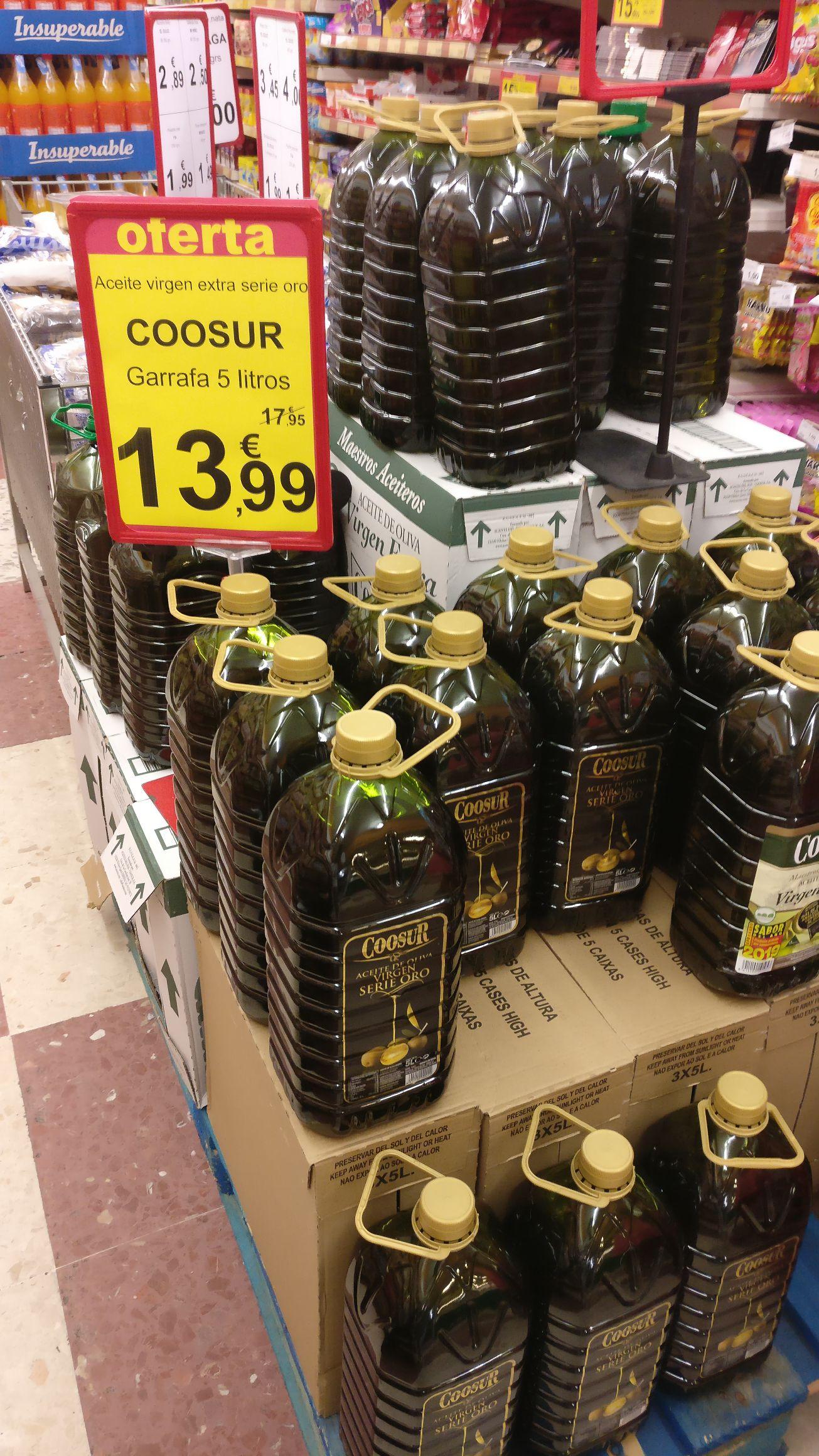 Aceite virgen extra coosur 5l