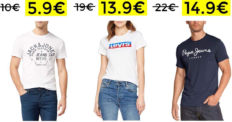 Bajadas en camisetas de marcas TOP