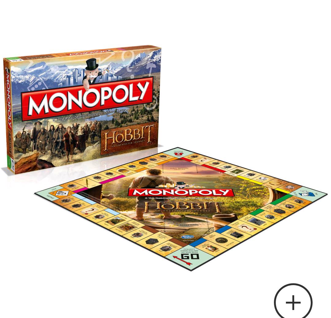 Monopoly - Edición El Hobbit: Un Viaje Inesperado en inglés