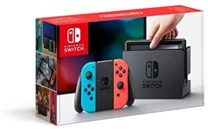 Nintendo switch Gris/Azul-Rojo neon (EBAY NUEVO 2 años GARANTÍA OFICIAL ESPAÑA)