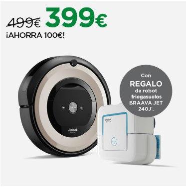 iRobot Roomba e5 + Robot friegasuelos braava jet 240