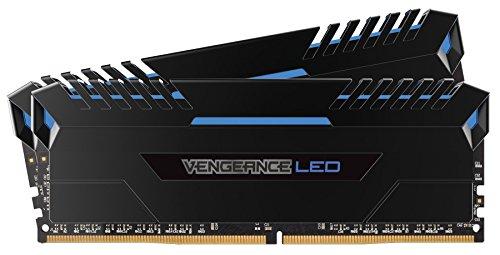 Corsair Vengeance LED - 32 GB (2 x 16 GB, DDR4, 3000 MHz, C16, XMP 2.0) Negro con Azul LED