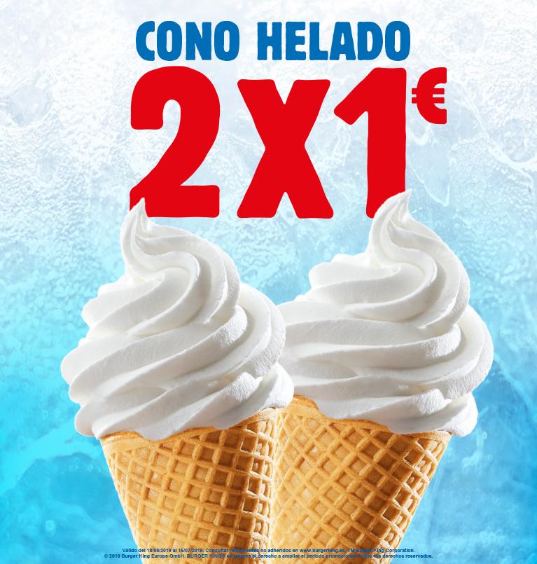 BURGER KING: 2 conos de helado 1€