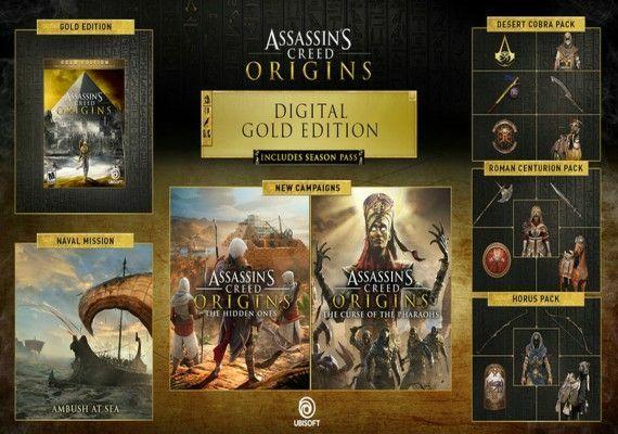 Assassin's Creed Origin: GOLD EDITION [Uplay] +  12.25€ de Cashback para gastar en toda la web