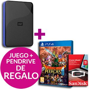 Western Digital 2TB + Dragon Quest Heroes II  + Sandisk 16GB