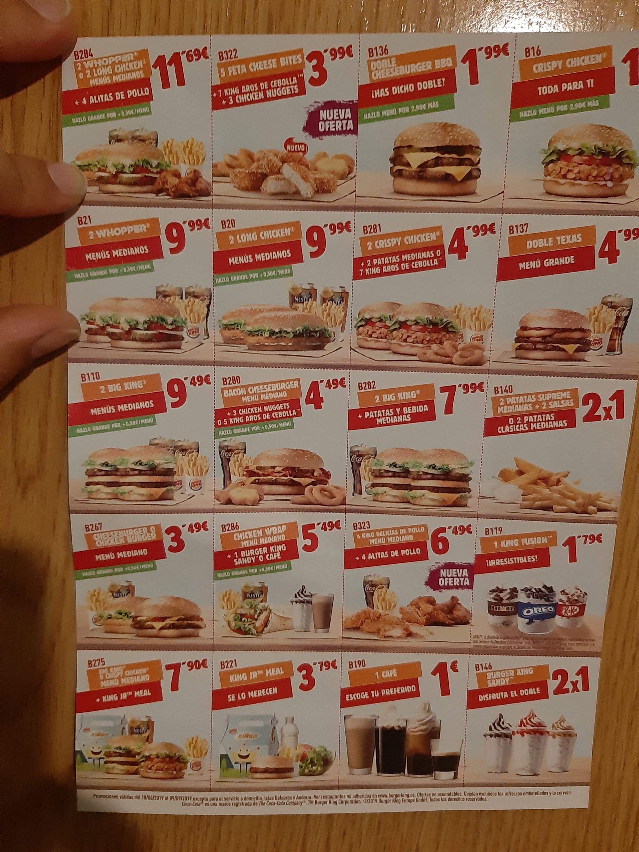 Codigos de descuento burger king (ACTUALIZADO)