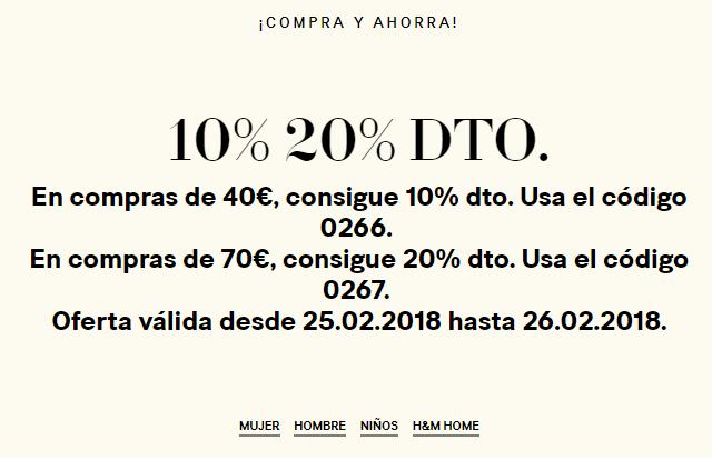 H&M 10% 20% DTO