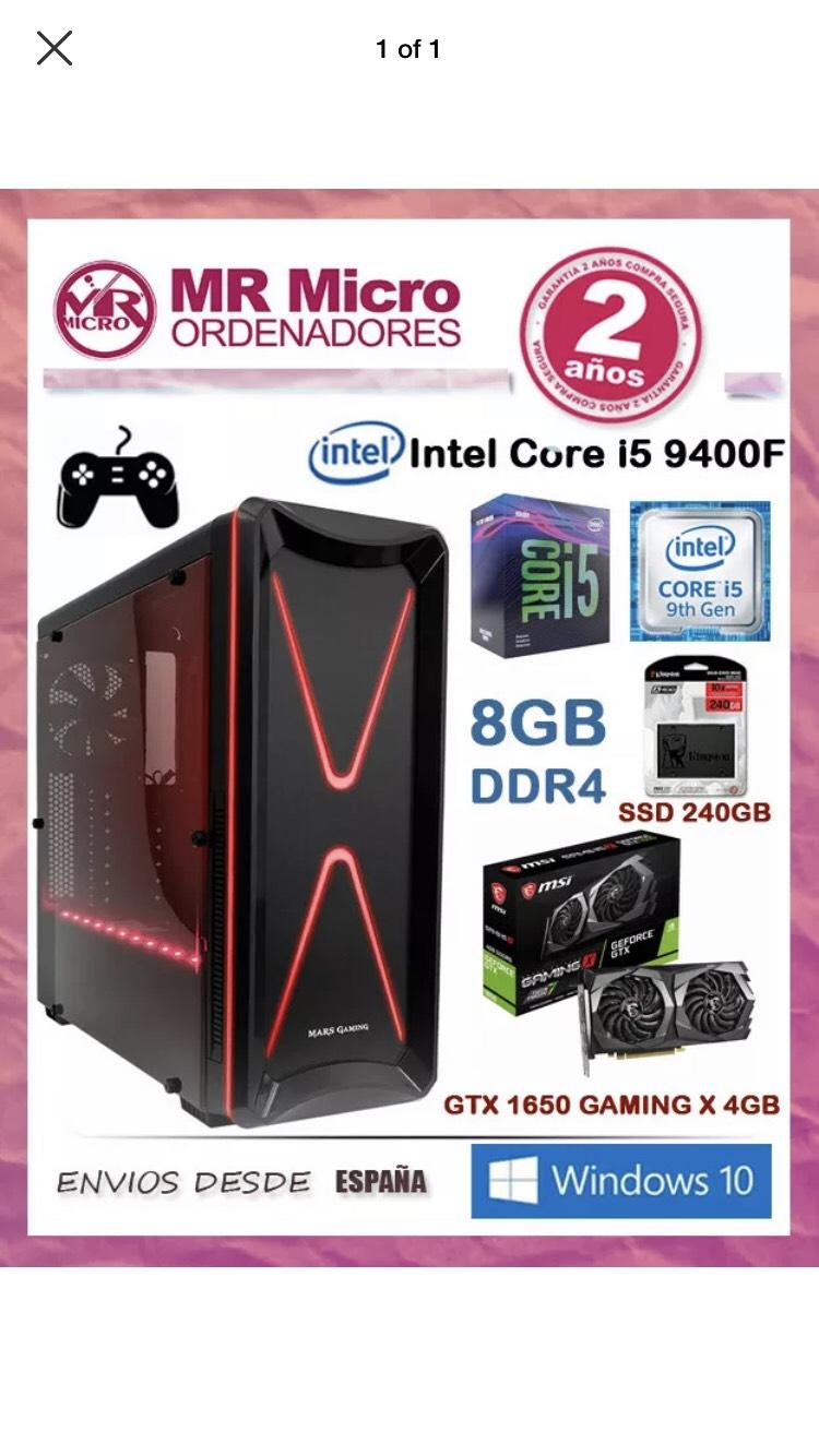 PC i5 9400f/GTX 1650/8GB/SSD 120