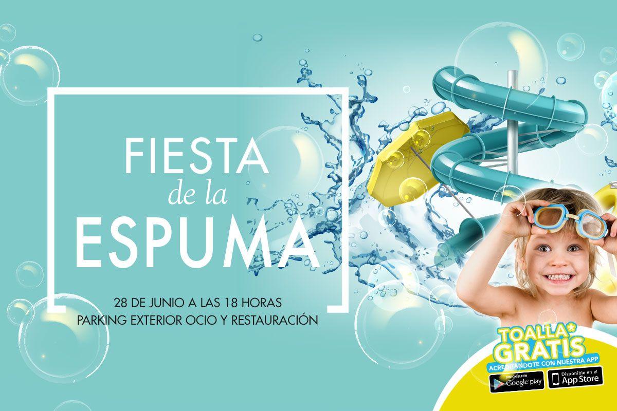 Fiesta de la espuma con granizado+ toalla playa gratis