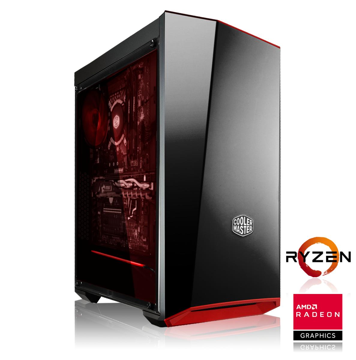 PC AMD Ryzen 5 2600 | B450M PRO|16GB DDR4 | GTX1660Ti | 240GB SSD| 1TB HDD | 600W| 2 juegos