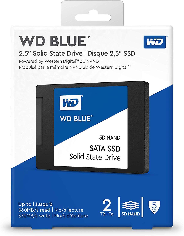 """WD Blue 2TB 3D NAND SSD 2.5"""" SATA"""