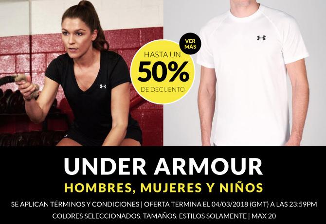 50% en selección de artículos Under Armour