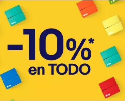 10% EXTRA en eBay hasta las 21h