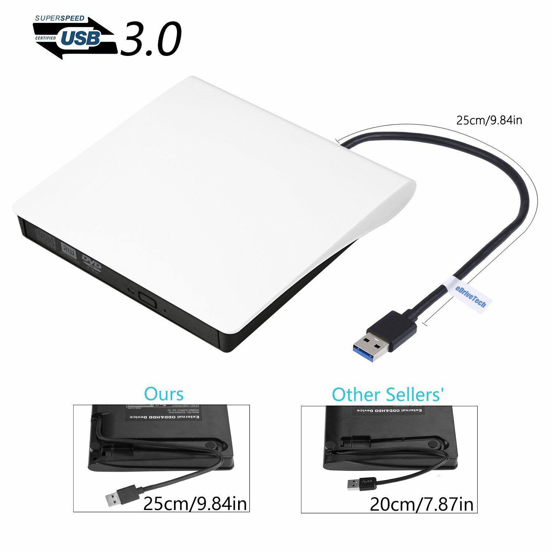 Unidad DVD Externa Grabadora Lector Externo USB 3.0 Portátil CD Quemador DVD Drive ROM CD/DVD-RW