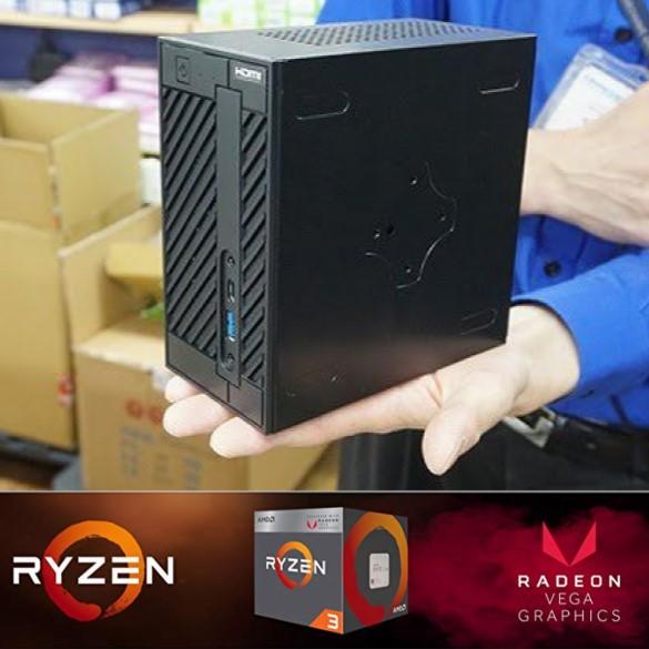 Mini-PC AsRock DeskMini A300 Gaming Ryzen + RX Vega / 8Gb / 240Gb (Tamaño 155 x 155 x 80 mm)