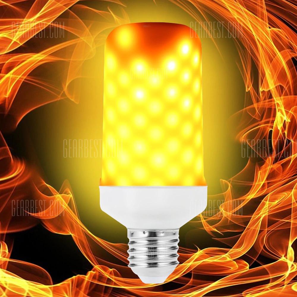 Luz LED efecto llama de fuego.