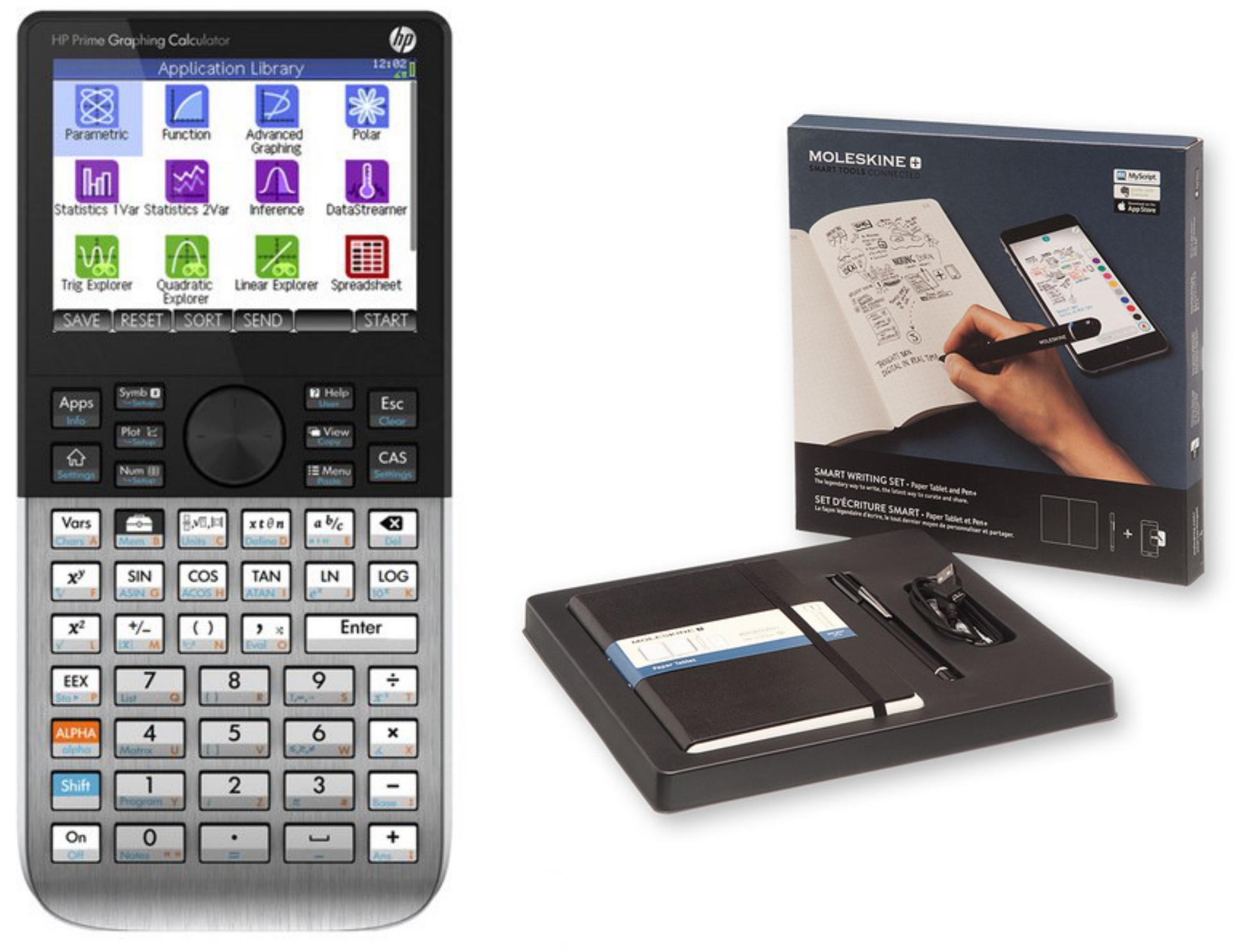 Calculadora gráfica HP o Smart Moleskine set por 40€