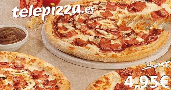 Pizza mediana a domicilio por solo 6,95€