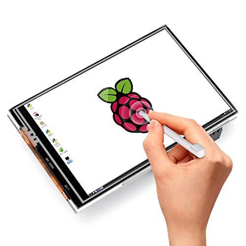 Quimat 3.5 pulgadas Pantalla, Batería para Raspberry Pi 3 2 1 (Pantalla de RPi)