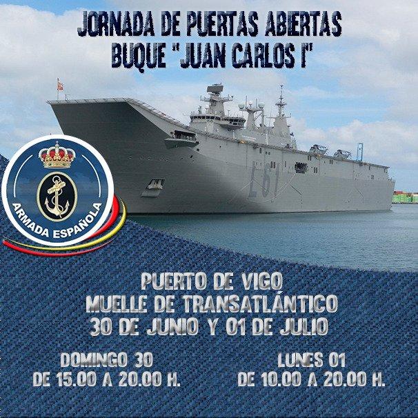 Puertas Abiertas Buque Juan Carlos I en Vigo