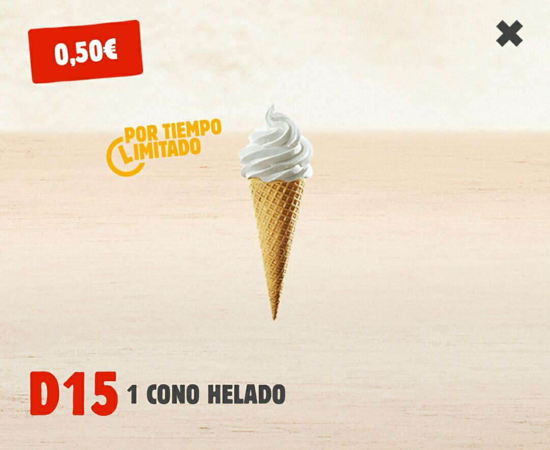 Cono helado del Burger King por 0,50€