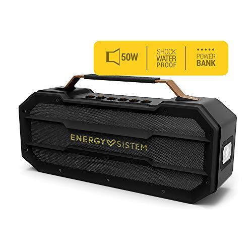 Energy Sistem Outdoor Box - Altavoces, Bluetooth, MP3 USB & MicroSD, FM Radio, Shockproof