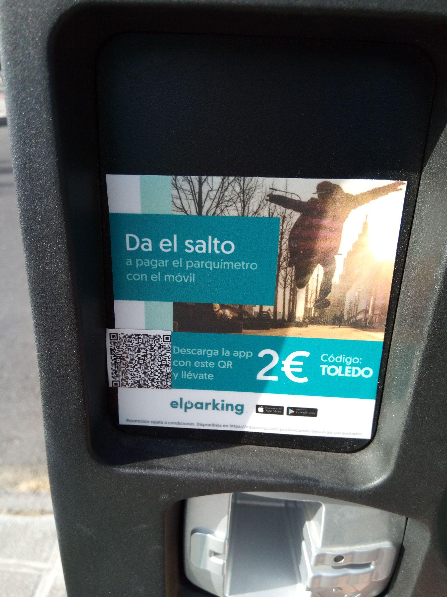 2€ gratis para aparcar en Toledo