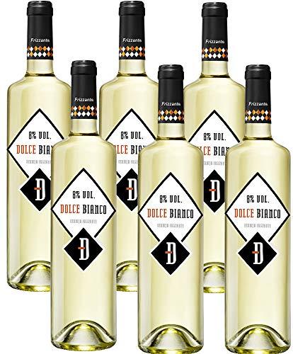 6 botellas de vino frizzante Dolce Bianco por 8,72€