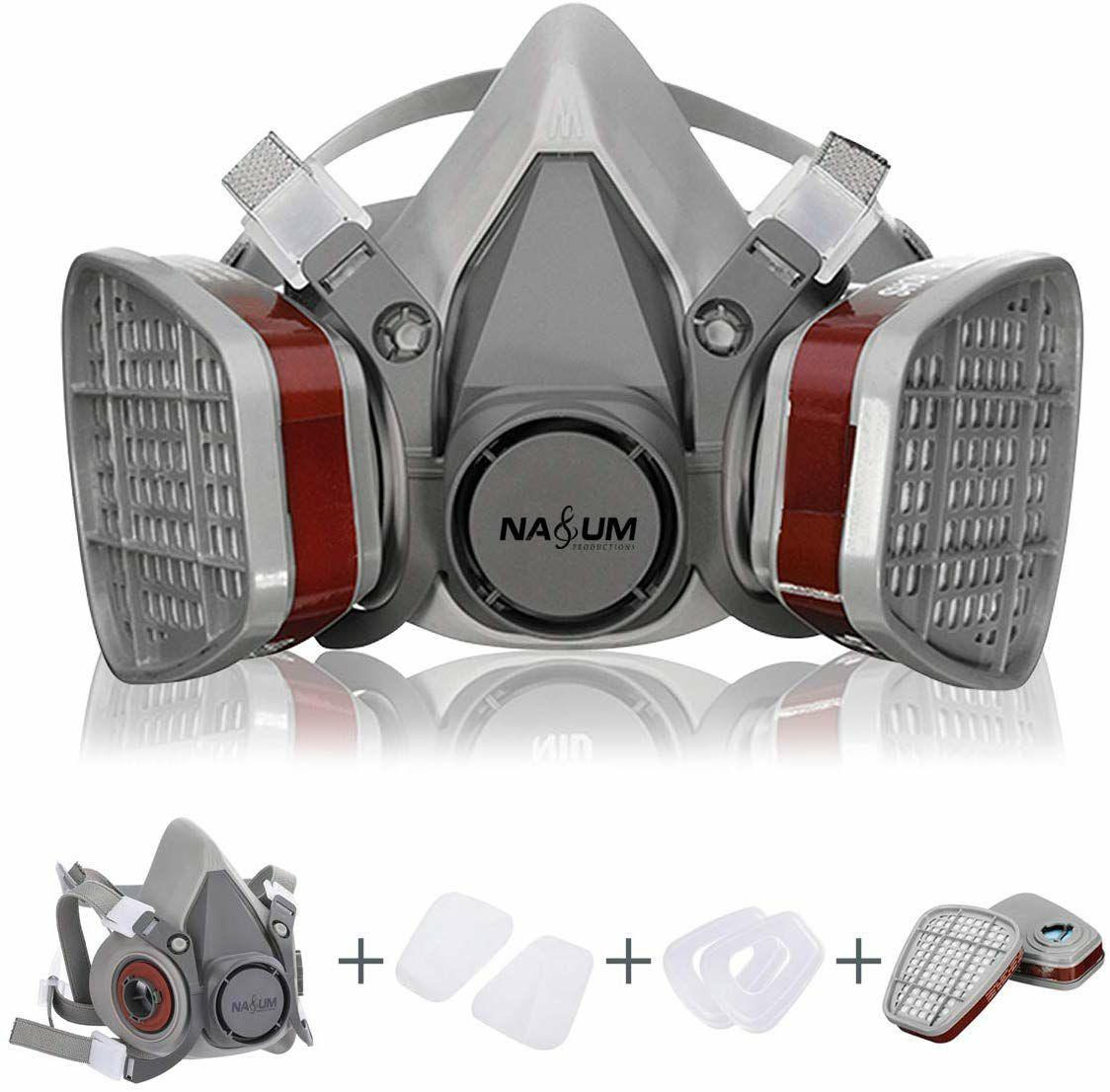 Semimáscara Antigas Máscara para Pintura en Aerosol, Polvo, Productos Químicos, Lijado a Máquina, Formaldehído, Protección con Filtros