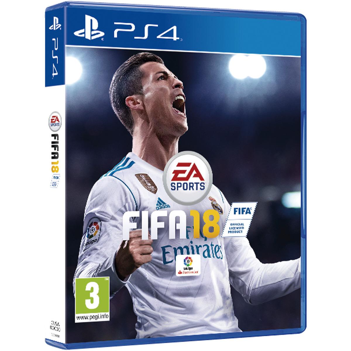 PS4: FIFA18 de regalo por la compra de una PS4 1TB Slim o Pro. (200 uds.)