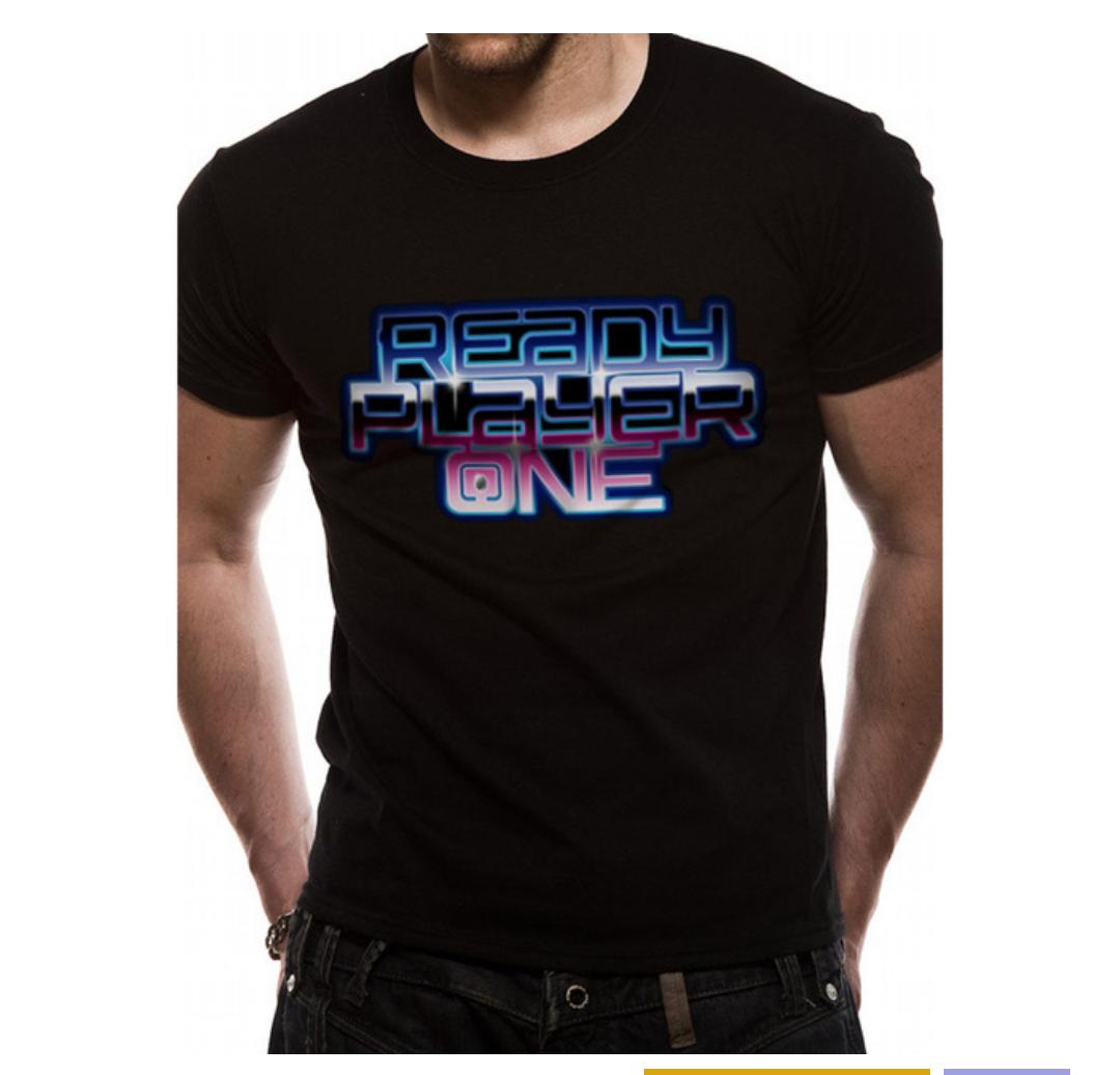Camiseta Ready Player One Logo (Talla L )