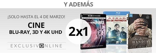 El Corte Inglés:  2X1 EN BLU-RAY, 3D Y 4K UDH (Sólo Online)