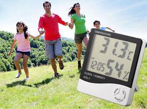 Medidor de temperatura y humedad ambiental