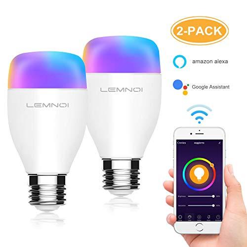 Pack de 2 bombillas inteligentes - Compatible con alexa