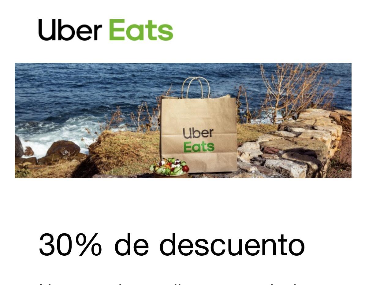 30% Descuento Uber Eats